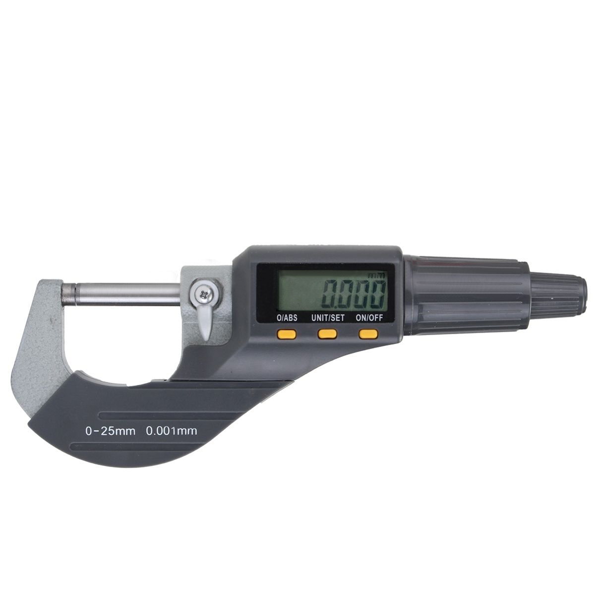 1pc Digital Electronic Outside Micrometer 0-25mm Carbide Tip Accuracy 0.002mm/0.0001 with Case LCD Diaplay<br>