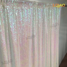 5FT*6FT White/Gold Sequin Backdrops,Party Wedding backdrops Decoration,Sequin curtains,Drape,Sequin panels,Photo Booth Backdrop