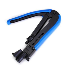 RG59/6/11 Bent Wire Crimper Pliers Coaxial Network Cable Squeeze Clamp Terminal Crimping Pliers