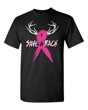 Print Your Own T Shirt Save A Rack Breast Cancer Awareness Deer Pink Ribbon Survivor O-Neck Men Short Graphic T Shirts(China)