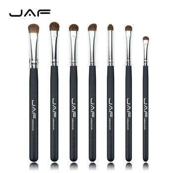 JAF al por menor Clásico 7 unids Cepillos para Maquillaje 100% Natural de Los Animales Caballo Pony Pelo Maquillaje de Ojos Cepillo JE07PY