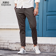 Enjeolon brand new long winter straight trousers cotton casual pants man,black gary Pants male free shipping plus size K6108(China)