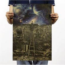 Metaphor cannot read Interstellar space Vintage Paper Poster Art Decoration Painting core