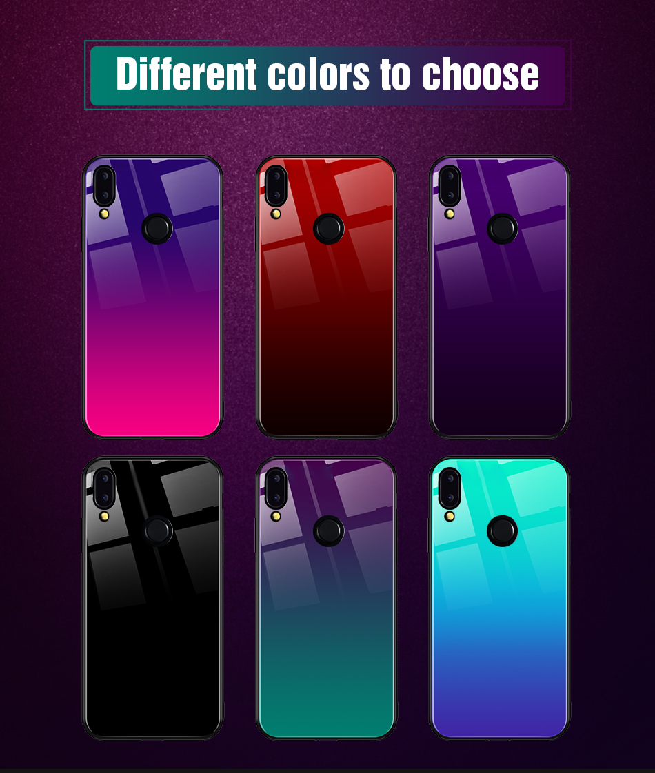 Gradient Glass Back Case For Huawei P20 Lite P Smart Plus Nova 3i Case Luxury Silicone Case For Huawei Honor 10 9 Lite 8X Coque (12)