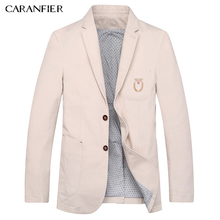 CARANFIER 2017 New Winter Casual Blazers Men Fashion Suits Male Parkas Slim Fit High Quality Brand Clothing 5 Color Plus M~4XL(China)
