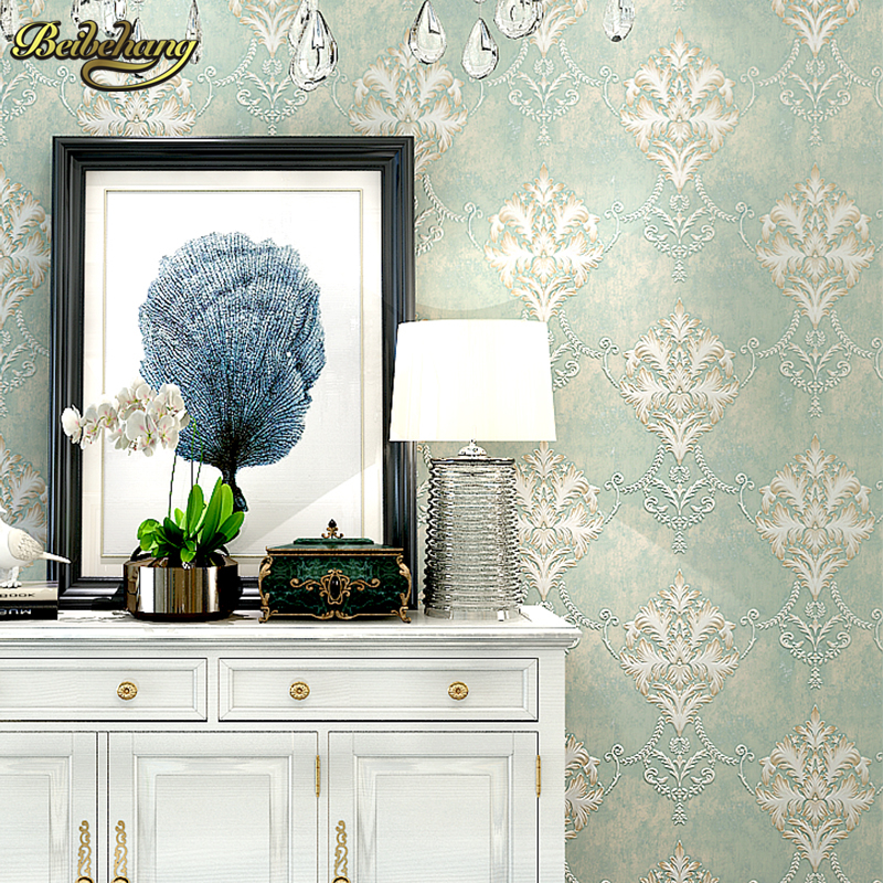 beibehang papel de parede 3D European Damask Floral wallpaper for walls 3 d wall papers home decor living room bed room flooring<br>