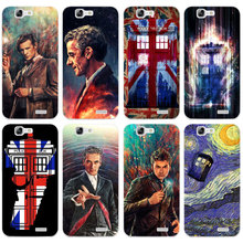 H446 Doctor Who Union Jack Tardis Transparent Hard Thin Skin Case Cover For Huawei P 6 7 8 9 10 Lite Plus Honor 6 7 8 4C 4X G7(China)