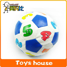 11cm dia digital football with bell kids toys soccer ball baby toy soft ball(China)