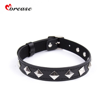 Buy Morease Leather Collar Harness Neck Chain Women Sex Toy Erotic Slave Cosplay Sex Game Bondage Couples Flirty BDSM Sexo Adults