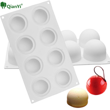 Qian Yi  Mousse Jelly Baking Molds Specialty Novelty Cake Baking Tool Mould Silicone Ball Shape Mold Chocolate Bread