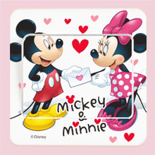 9cm x 9cm minnie mickey mouse switch stickers movie wall art decals kids room decoration peel & stick