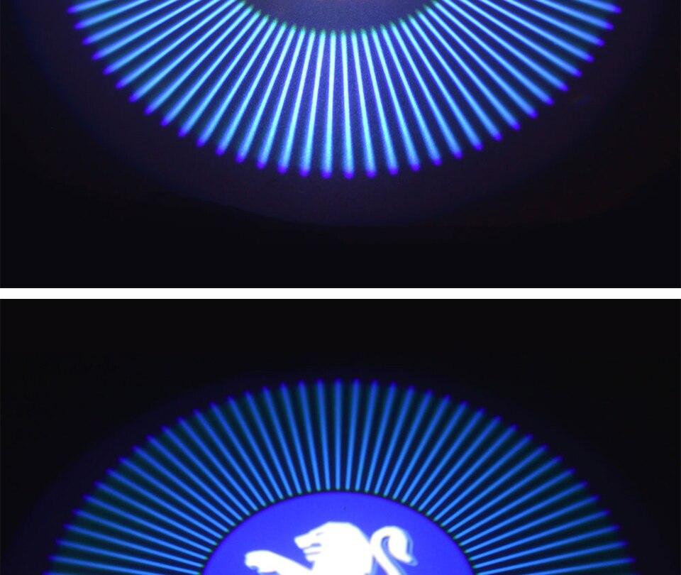 car door light welcome lamp auto decoration bulb car brand logo projector (7)