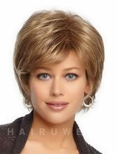 Heat Resistant Synthetic Straight Hair Products Short Blonde Wig Natural Looking Wigs For White Women Free Shipping