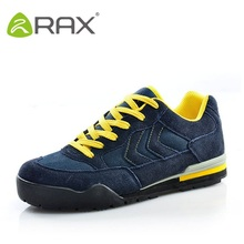 Rax Men Hiking Shoes Men Genuine Leather Sports Shoes Autumn And Winter Warm Slip Damping Hiking Shoe #B2330