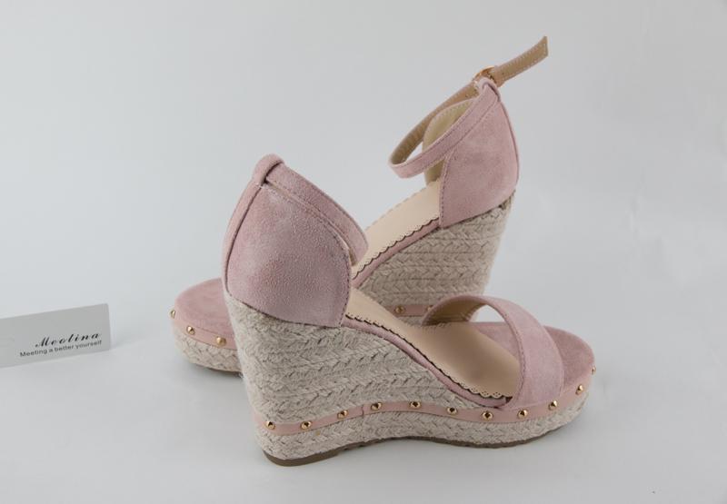 Women's Sandals, Platform Sandals, High Heels Shoes, Ankle Strap, Ladies Sandals Rivet Casual Footwear 18