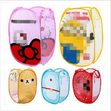 Minions Hello Kitty monkey Folding Dirty Clothing Laundry Storage Basket Children's Toys Shoes Sundries Storage Organizer#S449