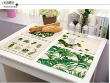 Tablecloths For Sale Americana Washable Vintage Tablecloths Small Fresh Green Leaves Printed With Linen Tableware Mat