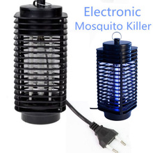 Electronics Mosquito Killer Trap Moth Fly Wasp Led Night Lamp Bug Insect Light Black Killing Pest Zapper EU US Plug(China)