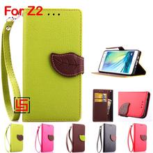Buy New Leaf Clasp PU Leather Lether Leathe Flip Wallet Phone Case Cover Sony Xperia Experi Experia Xperi Z2 D6502 Green Red for $4.69 in AliExpress store