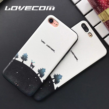LOVECOM New Arrival Lucky Deer Stand in Earth Pattern For iPhone 6 6S Plus 7 7 Plus Soft Silk Lines Anti Shock Mobile Phone Case