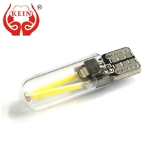 KEIN 6000K T10 w5w 194 car led light Filament COB Glass Interior Tail Rear fog Bulb Reading Signal Lamp Pure White 12V for honda