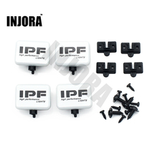 INJORA 2PCS/4PCS RC Car Square LED Light Cover for 1:10 RC Crawler Axial SCX10 D90 Traxxas TRX-4 Tamiya HSP RC Car Parts(China)