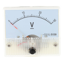 DC 0-30V Durable Mini Analog Voltmeter Voltage Panel Meter Tester For Experiment or Home Use Voltimetro