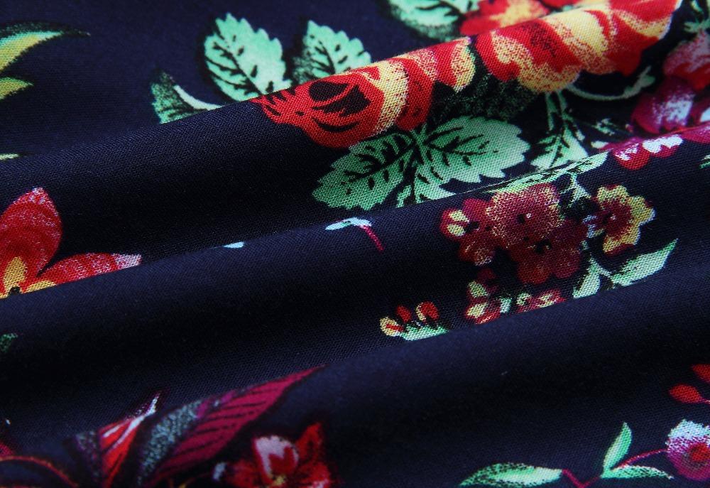 Print Floral Loose Boho Bohemian Beach Dress Women Sexy Strap V-Neck Retro Vintage Long Maxi Dress Summer 2017 Plus Size 3XL 19