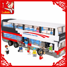 SLUBAN 0330 741Pcs City Series Tour School Bus Model Building Block Construction Figure Toys Gift For Children Compatible Legoe(China)
