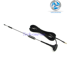 10 piece/lot 4G 7-8 dbi LTE Antenna 4g Double Screw Aerial 698-960 Mhz with magnetic base TS9 Plug Male RG174 3M(China)