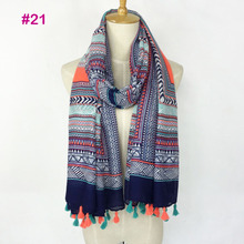 2017 Spring Autumn New Design Ethnic Style Voile Cotton Women Thin Long Shawl Scarf Woman Big Size Pashminas Wrap Hijab
