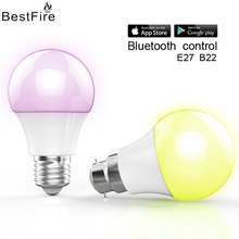 BestFire Creative 4.5W smart LED mobile phone control Bluetooth light bulb APP wireless E27 dimming bulb light(China)