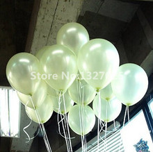 Free Shiping 20pcs/Lot 10 Inch 1.8g White Balloon Helium Inflable Light Pear White Party Wedding Balloons Festas Decor Ball