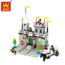 Castle Model Building Kits 3D DIY Assembly Toys Enlighten Building Blocks Solider Educational Gift For Children(China)