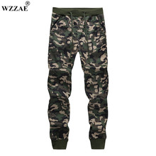 2017 New Mens Jogger Autumn Pencil Harem Pants Men Camouflage Military Pants Loose Comfortable Cargo Trousers Camo Joggers M-XXL(China)