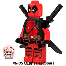 Single Sale Super Heroes Deadpool Atom Captain America Spawn Bricks Building Blocks Best Collection Toys children PG051