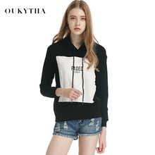 Oukytha 2017 Korean Fashion Autumn Street Style Women Cotton O-Neck Printed Colour Loose Full Hoodies Sweatshirts S15462(China)