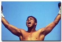 "Muhammad Ali-Haj Boxing Boxer Champion Art Silk Fabric Poster Print 12x18 24x36"" Sports Pictures For Bedroom Decor 013"