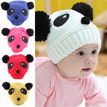 1x Lovely Animal Panda Baby Hats And Caps Kids Boy Girl Crochet Beanie Hats Winter Cap For Children To Keep Warm