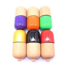 Kendama Wooden Natural Pill Professional Traditional Toy Ball Game Juggling Ball PU Paint Beech Sword Toy For Children Adult