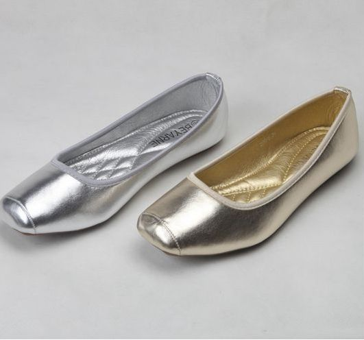 2017 new fashion square flats shoes for women  gold silver, PR136 comfortable soft leather casual anti-slip sole designer shoe<br><br>Aliexpress