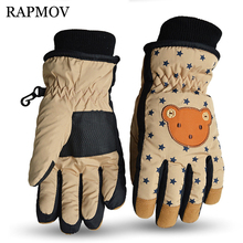 Whole SALE 2016 Winter Children Ski Snowboard Gloves Waterproof Windproof Thermal Snow Mittens Boys Girls Kids Sports Mittens