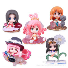 5pcs Nami Boa Hancock Robin Shirahoshi Perona One Piece Anime Collectible Action Figures PVC Collection toys for christmas gift