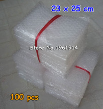 23x25cm 100pcs New Bubble Envelopes Wrap Bags/ anti-static Pouches/ red color PE Mailer Packing bag Free Shipping(China)