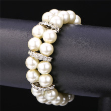 Buy Pearl Bracelet Women Fashion Jewelry Gift Elegant Style Design Rhinestone 2-Layer Bracelet Pearl Jewelry H1511 for $6.99 in AliExpress store