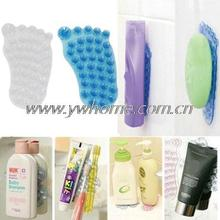 10pcs/lot Soap sucker Suction Silicone non slip mat Washing room bathroom wall shampoo soap shower gel toothpaste holder sucker(China)