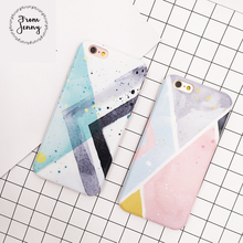 From Jenny Case For Iphone 6 6s 6 Plus 4.7 5.5inch 7 7+geometric triangle Simple designs hipster stylish Shell skin covers(China)