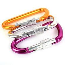 Lightweight Aluminum Mountaineering Carabiner D Ring Safety Lock Hook Climbing Screw Locking Quick Release Carabiner(China)