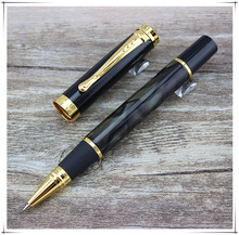 High quality JINHAO Mark Twain Special Edition MB Roller Ball Pen unique Dark green Gold Clip stationery Pens for writing