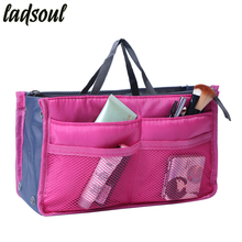 Ladsoul Multi-function Makeup Organizer Bags Women Cosmetic Bags Big Size Makeup Bag Good Quality Make Up Toiletry Bags lm2136/g(China)